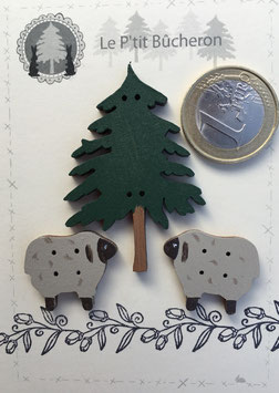 Moutons et sapin petite taille