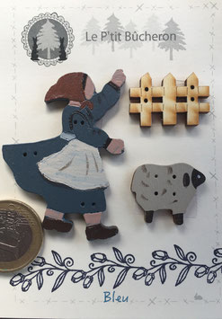 Bergère et mouton