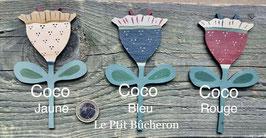 """Déco fleur """" Coco""""pour l'étagère vendue en kit"""