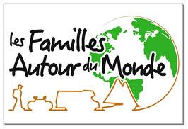 """Lot de 2 stickers """"Les Familles autour du Monde"""" ."""