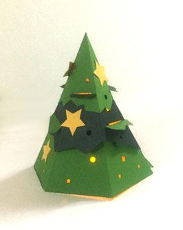 Pop-Up Holiday Tree Lantern Card
