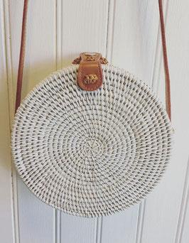 Rattan bag White pintado