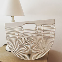 White bamboo bag