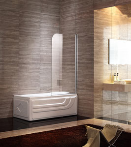 Duschtrennwand - Badewannenaufsatz 1-teilig