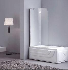 Duschtrennwand - Badewannenaufsatz 2-teilig