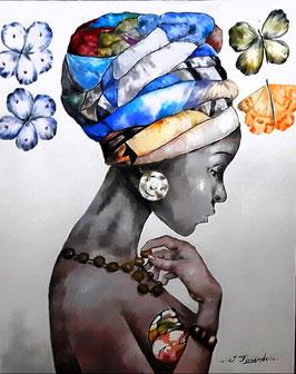 """Künstleroriginal, Öl auf Leinwand, """"Africa"""", 100 x 80 cm"""