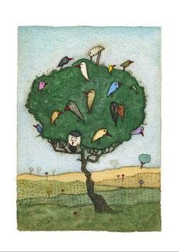 """Limitierter Kunstdruck von Holger Koch """"Familienbaum"""""""