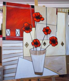 "Acrylbild ""Modern Flowers II"""