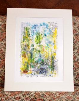 "Original Acrylmalerei ""Waldlandschaft I"""