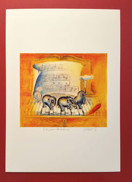 "signierter Kunstdruck ""Elefantenblues"""