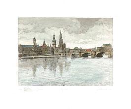 """ART-Print von Dresden """"Labuschin farbig"""""""