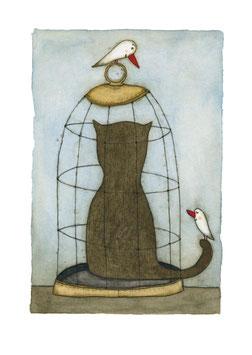 """Limitierter Kunstdruck von Holger Koch """"Al Cat Raz"""""""