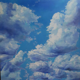 """Künstleroriginal, Öl auf Leinwand, """"Wolken aus dem Himmel"""", 100 x 100 cm"""