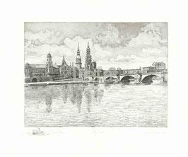 """ART-Print von Dresden """"Labuschin schwarz-weiß"""""""