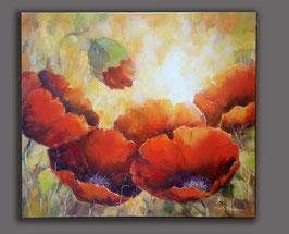 """Original Ölbild """" Rote Mohnschönheiten """""""