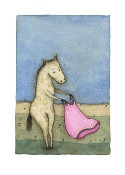 """Limitierter Kunstdruck von Holger Koch """"Pony & Kleid"""""""