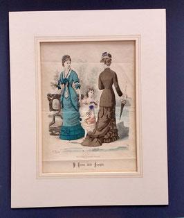 "Original Kupferstich "" Il Tesoro delle Famiglie "", handcoloriert"