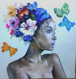 "Künstleroriginal, Öl auf Leinwand, ""Butterflies"", 100 x 80 cm"