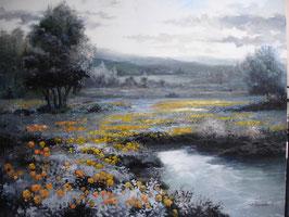 """Künstleroriginal, Öl auf Leinwand, """"Monochrome Landscape"""", 100 x 80 cm"""