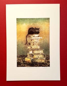 "signierter Kunstdruck ""Turmbau zu Babel"""
