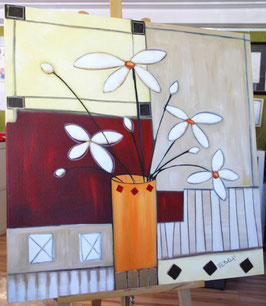 "Acrylbild ""Modern Flowers I"""