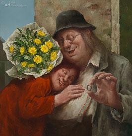 """Fine Art Kunstdruck auf Canvas """"Direkt von Herzen"""""""