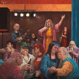 """Fine Art Kunstdruck auf Canvas """"Hippie Wiedersehen"""""""