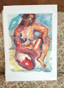 "Original Aquarell ""Akt IV"""
