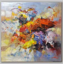 """Original Ölbild """"Abstrakt in Rot und Blau"""""""