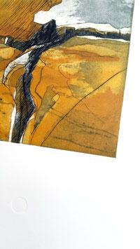 """Original Farbradierung """"Landschaft E"""""""