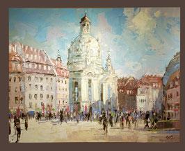 "Original Ölbild ""Neumarkt zu Dresden"""