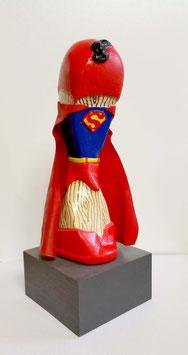 "Skulptur ""Superman"", Gipsguss, handbemalt"