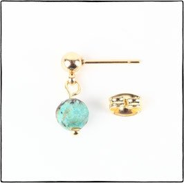 KATE  - AFRICAN TURQUOISE EARRING
