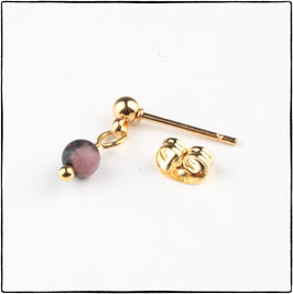 KATIE - PINK LACE RHODONITE EARRING