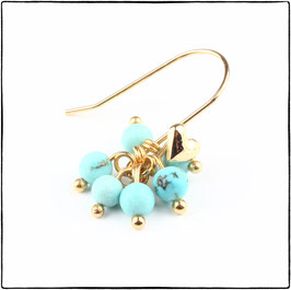 BELLA - TURQUOISE STONE EARRING