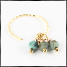 LUNA - AFRICAN TURQUOISE EARRING
