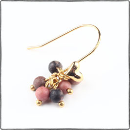 BELLA - PINK LACE RHODONITE EARRING