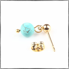 KATE - TURQUOISE STONE EARRING