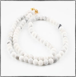 WHITE HOWLITE CHOKER NECKLACE