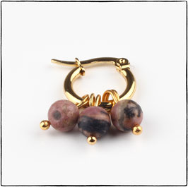 ELLA - PINK LACE RHODONITE EARRING