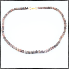 PINK LACE RHODONITE CHOKER NECKLACE