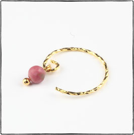 ZOE - PINK LACE RHODONITE EARRING