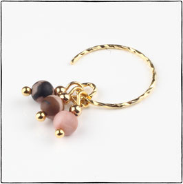 LUNA - PINK LACE RHODONITE EARRING