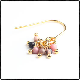 JANICE - PINK LACE RHODONITE EARRING