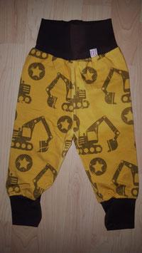 Hose Gelb, Bagger Braun