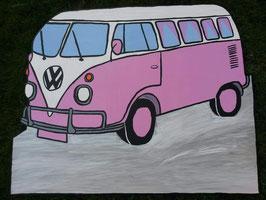 Geburtsfigur Bus Rosa