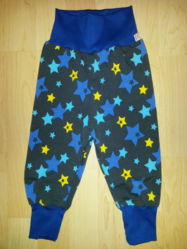 Hose Grau, Sterne Türkis, Gelb, Blau