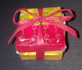 Seife Baustein, 4 Stück Rot, Gelb