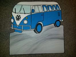 Geburtsfigur Bus Blau