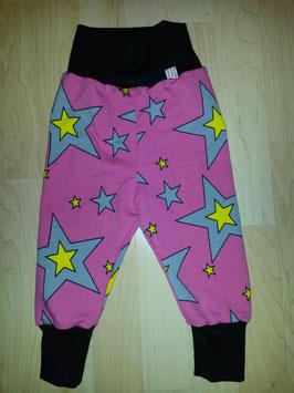 Hose Pink, Sterne Gelb Schwarz